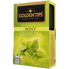 Чай индийский зеленый с мятой / Mint Green Envelope Tea, пакетики, 20 шт.