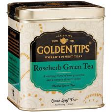 Чай индийский травяной зеленый с розой / RoseHerb Green Tea Tin Can цельно листовой, в банке, 100 гр