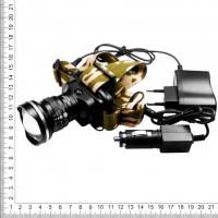 Фонарь налобный аккумуляторный поисковый (диод CREE) ZOOM BL-6807