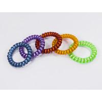 Комплект резинок-пружинок для волос, 5шт, фиолетовая, синяя, зеленая, оранжевая, красная