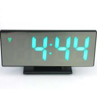 Часы настольные зеркало с будильником