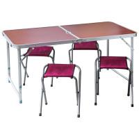 Набор мебели для пикника (стол + 4 табурета)