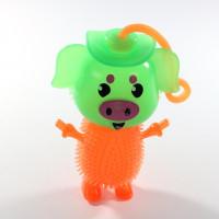 Игрушка-антистресс Свинка с пищалкой и подсветкой