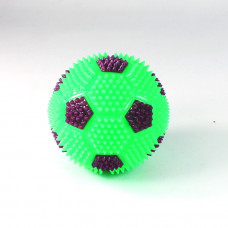 Игрушка-антистресс футбольный мяч с пищалкой и подсветкой