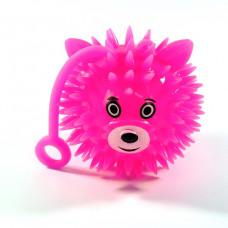 Игрушка-антистресс мяч-зверушка с пищалкой и подсветкой, 50 мм