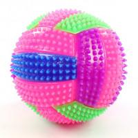 Игрушка-антистресс волейбольный мяч с пищалкой и подсветкой