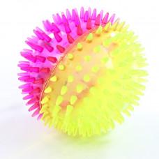 Игрушка-антистресс мяч на резинке с пищалкой и подсветкой, 100 мм
