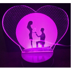 3d светильник Влюбленные