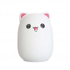Светильник мишка силиконовый с пультом 10*10*13.5 см