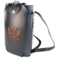 Фляжка кожзам в кобуре с гербом РФ 64 oz (1,92л)