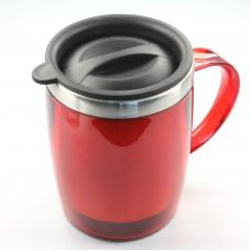 Кружка с термоизоляцией 400 мл (красный)