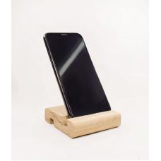 Подставка для телефона из массива дуба, Solarius