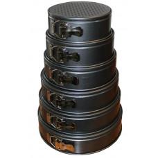 Форма для выпечки набор из шести разъёмных форм для выпечки (18, 20, 22, 24, 26, 28 см)