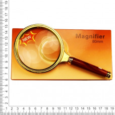Лупа золотая 80 мм 2,5х увеличение