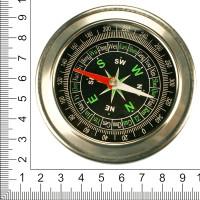 Компас металлический, диаметр 80 мм